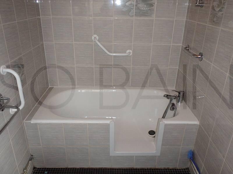 d coupe lat rale de baignoire bordeaux sobain. Black Bedroom Furniture Sets. Home Design Ideas